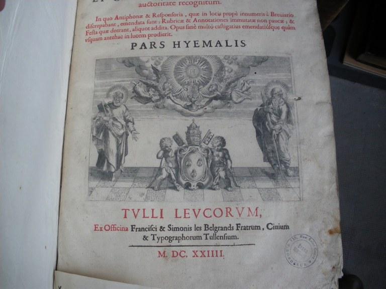 Antiphonaire romain hiver 1624 bas page 01