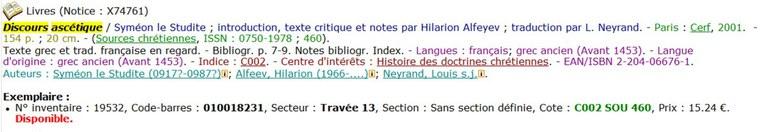 discours ascetique notice