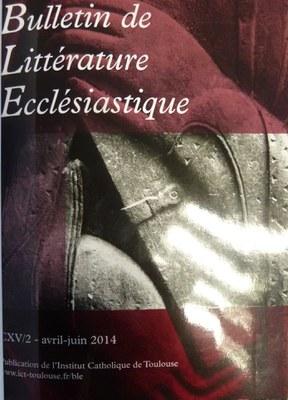 bulletin litterature ecclesiastique
