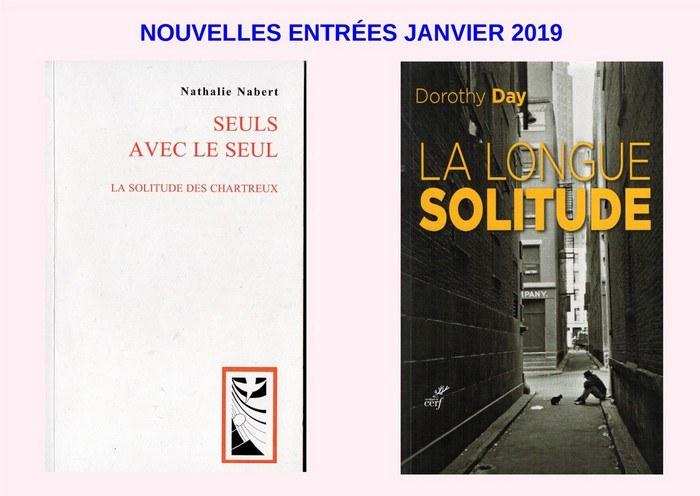 Nouvelles entrées janvier 2019
